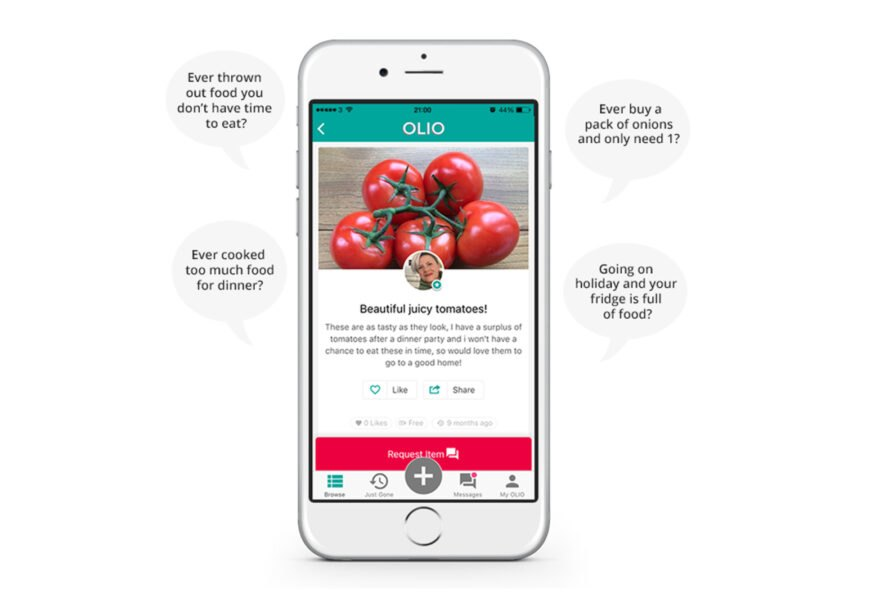 smartphone with app displaying tomatoes