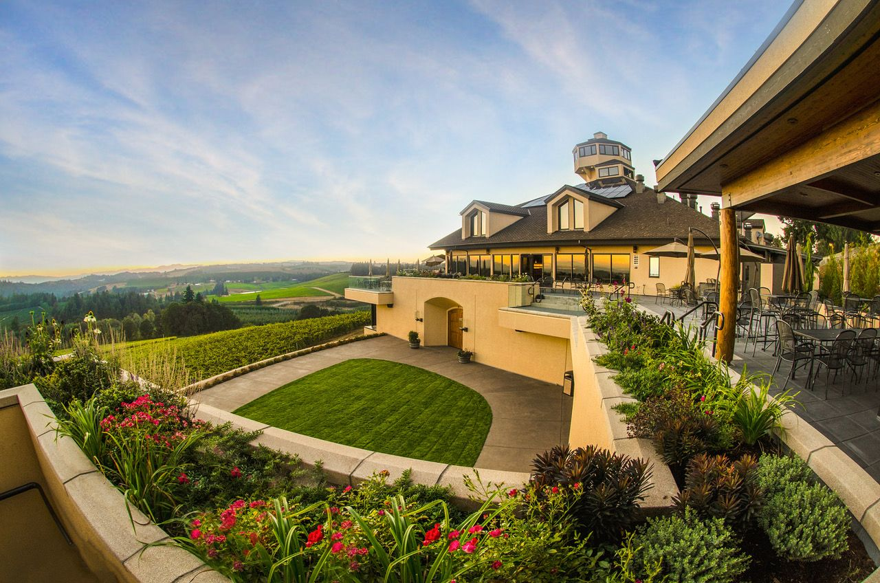 Nathan Good Architects redesigned Willamette Valley Vineyards tasting room andhospitality spaces. Additions included a new barrel aging facility, two LEED Certified guestsuites, and outdoor decks that overlook the vineyards.